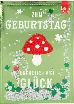 100% Glitzer Geburtstagskarte Anlasskarte Klappkarte10496-019