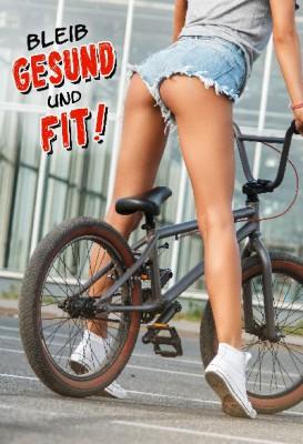 Depesche Hans und Grete 3D Klappkarte Bleib Gesund und Fit