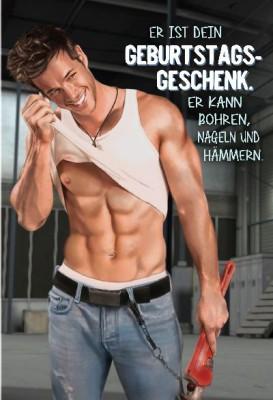 Depesche Hans und Grete 3D Klappkarte Er ist dein Geburtstagsgeschenk!