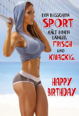 Depesche Hans und Grete 3D Klappkarte Ein bisschen Sport hält einen länger...