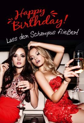 Depesche Hans und Grete 3D KlappkarteHappy Birthday! Lass den Schampus...