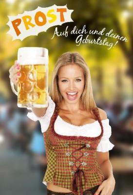 Depesche Hans und Grete 3D Klappkarte Prost! Auf dich und deinen Geburtstag!