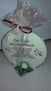 Geschenk Kerze zur Taufe 215g Grundpreis 106,75€/kg