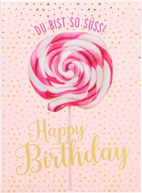 Depesche Portofino Klappkarten Geburtstagskarten 047 Du bist so süss! Happy Birthday