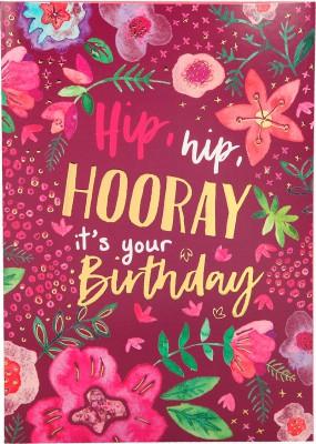 Depesche Portofino Klappkarten Geburtstagskarten 049 - Hip, hip HOORAY it's your Birthday