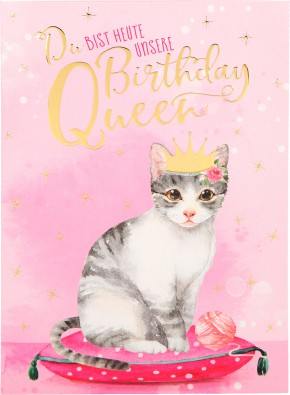Depesche Portofino Klappkarten Geburtstagskarten 054 - Du bist heute unsere Birthday Queen