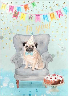 Depesche Portofino Klappkarten Geburtstagskarten 024 - Happy Birthday to you!